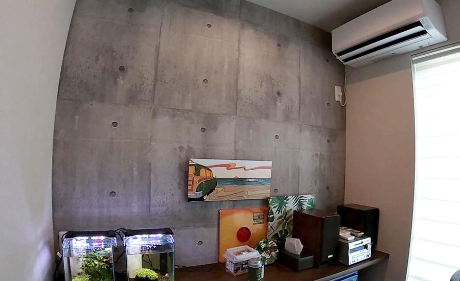 コンクリート調の壁紙