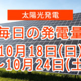 毎日の発電量10月18日~10月24日