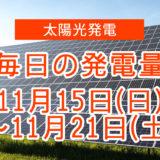 毎日の発電量11月15~11月22日