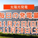 毎日の発電量11月22日~11月28日
