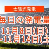 毎日の発電量11月8日~11月14日