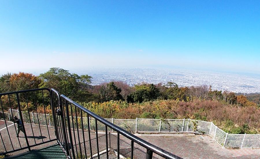 生駒山上遊園地からの大阪を一望できる景色