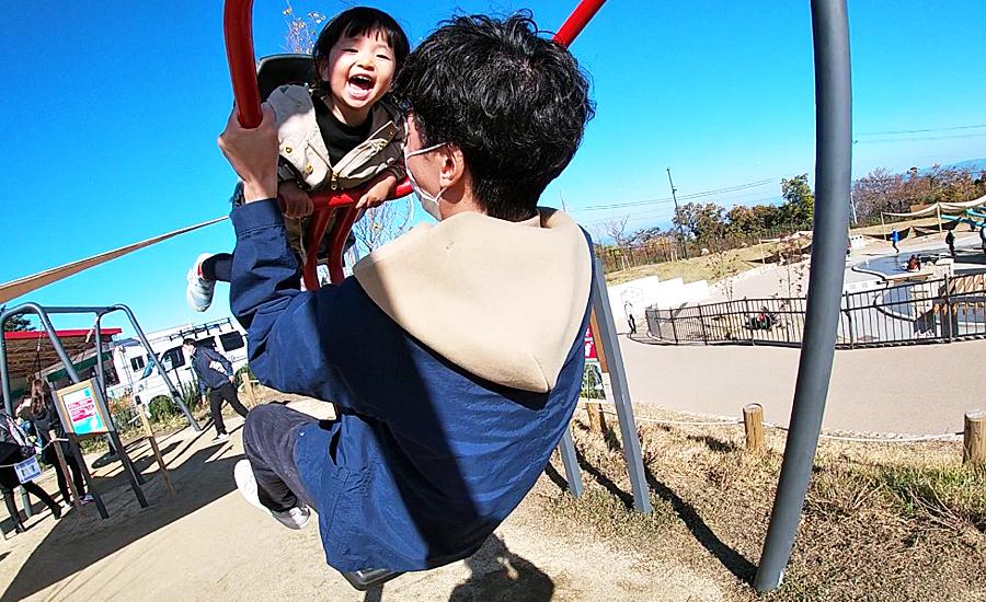 生駒山上遊園地ITADAKIのスウィングバレー
