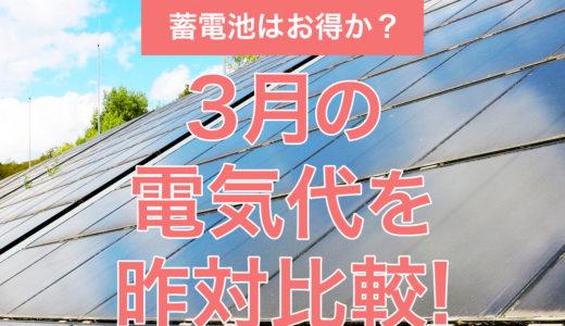 2021年3月の売電額はどれくらい?電気代を昨対比較!蓄電池について