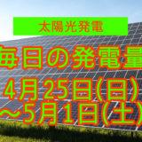 毎日の発電量4月25日~5月1日