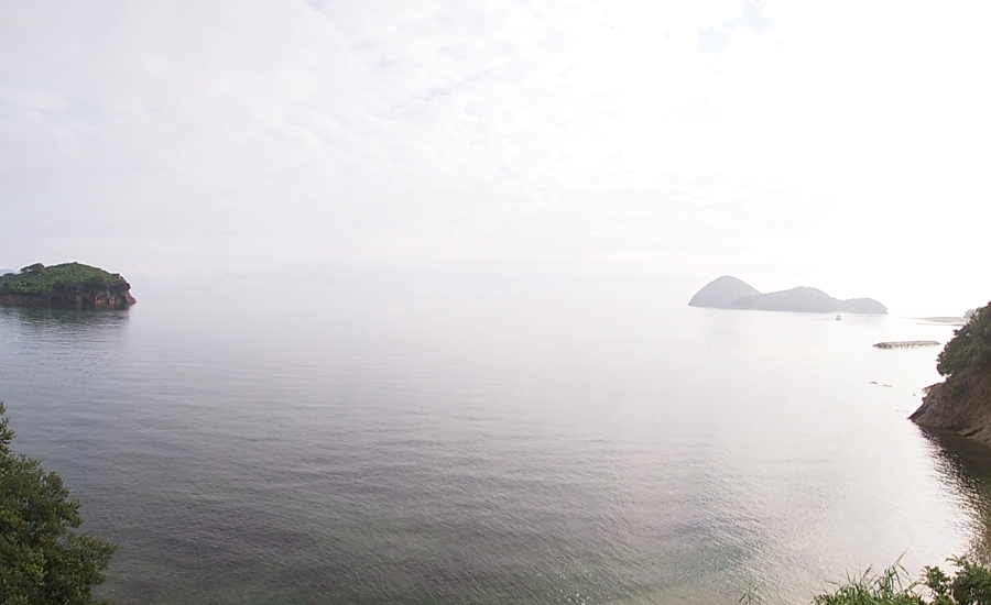 ベルテントから瀬戸内海が一望できるザランタン