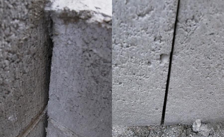 ブロックとブロックの間などに隙間があるのでベースとして全体にセメントを塗っていきます