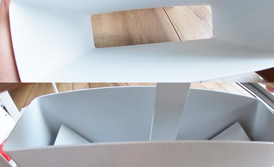 ホワイトの筒は底が抜けていてウッド部分を引き出すような形で使用します